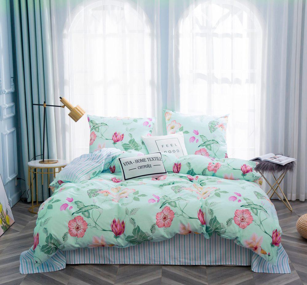 Комплект постельного белья Дуэт Семейный Сатин C352