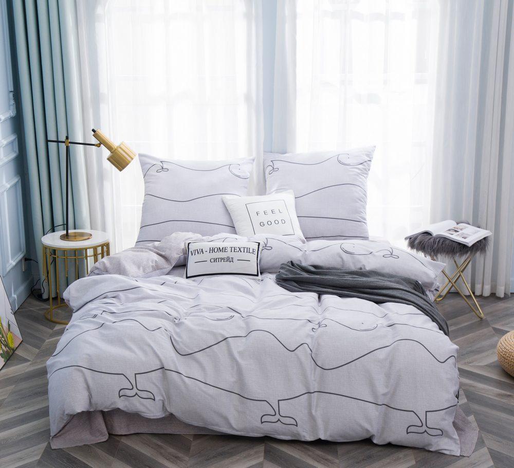 Комплект постельного белья Евро Сатин C354