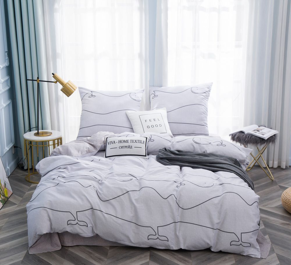 Комплект постельного белья Дуэт Семейный Сатин C354