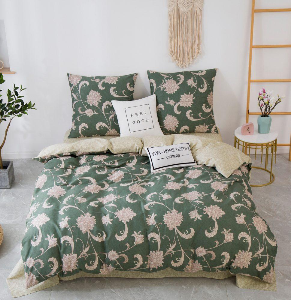 Комплект постельного белья 1.5 спальный Сатин C357
