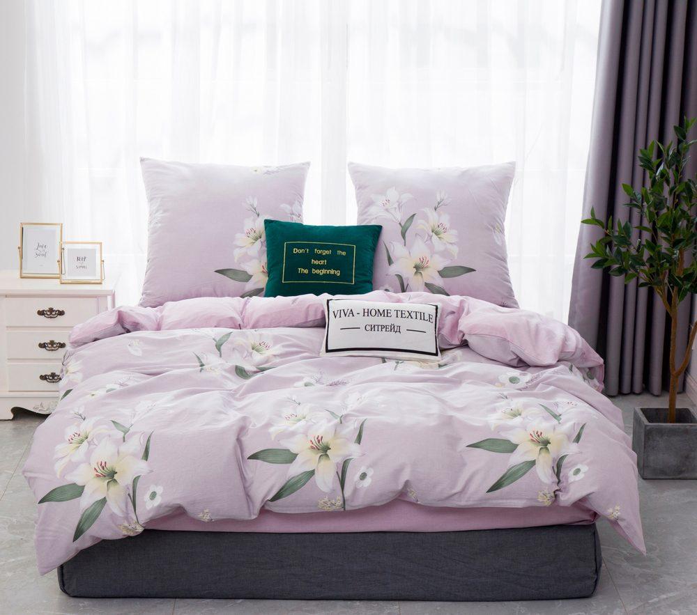 Комплект постельного белья 1.5 спальный Сатин C359