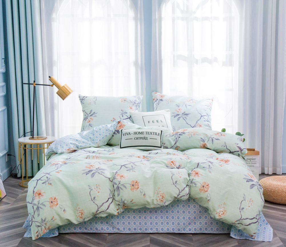 Комплект постельного белья Дуэт Семейный Сатин C350