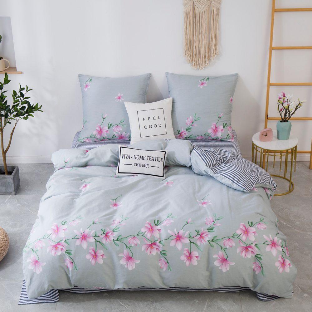 Комплект постельного белья 1.5 спальный Сатин C358