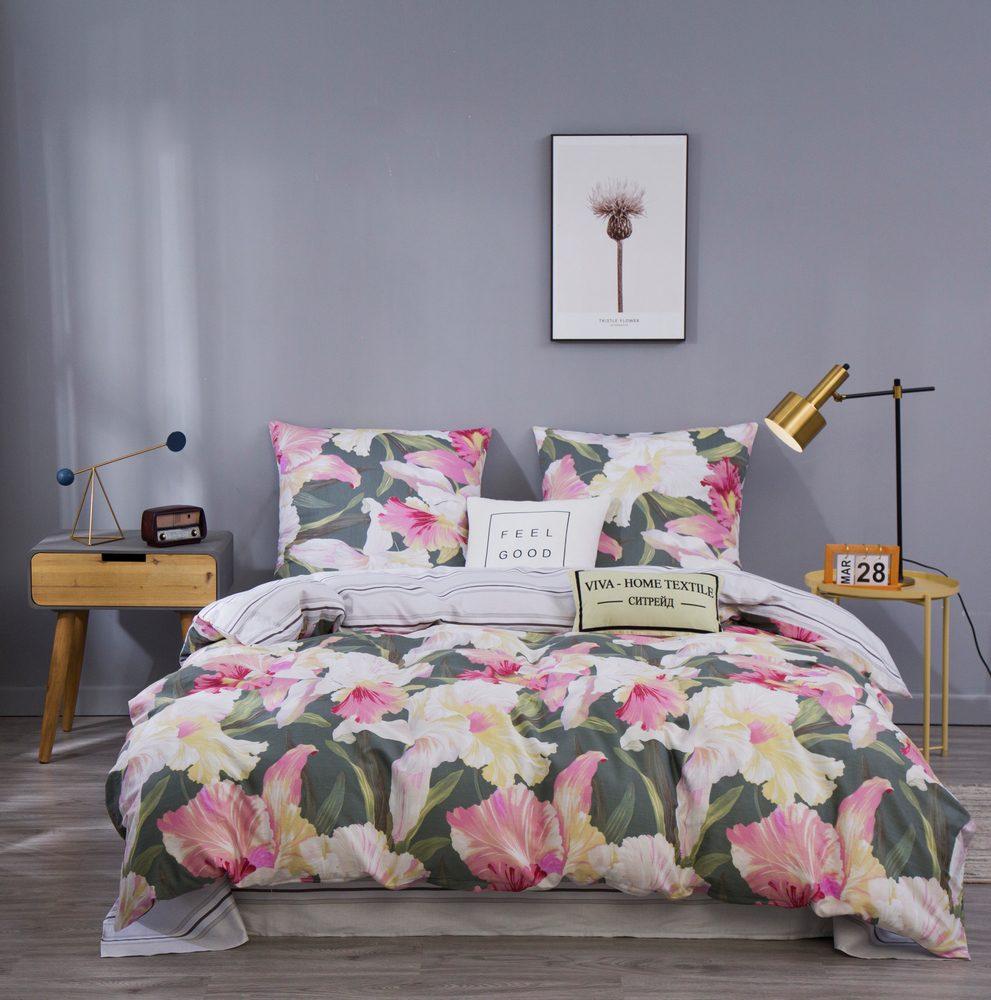 Комплект постельного белья Евро Сатин C361