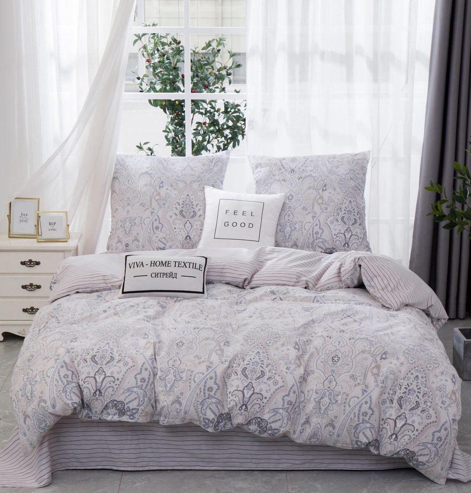 Комплект постельного белья 1.5 спальный Сатин C362