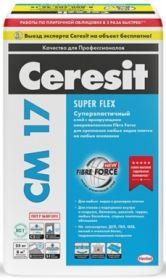 Клей для Плитки 5кг Ceresit CM 17 Super Flex Суперэластичный для Внутренних и Наружных Работ / Церезит СМ 17