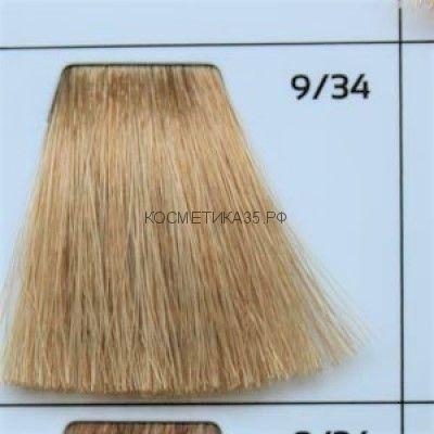Крем краска для волос 9/34 Блондин золотисто-медный 100 мл.  Galacticos Professional Metropolis Color