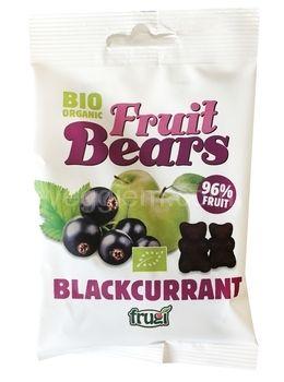 Органические фруктовые медвежуйки со вкусом яблока и черной смородины Fruit Bears,50 грамм