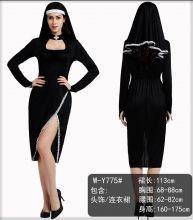Костюм сексуальной монахини с вырезом