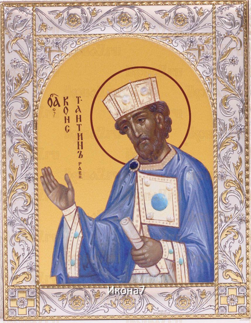 Икона Константин равноапостольный царь (14х18см)
