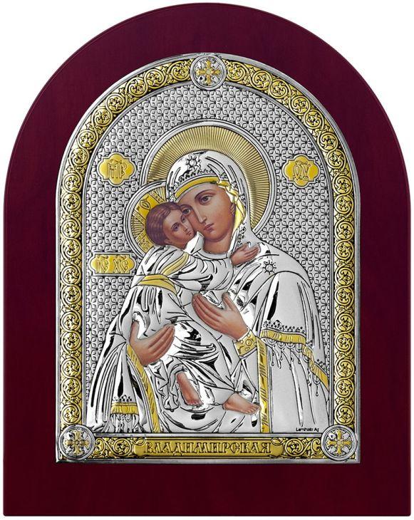 Серебряная икона Владимирская Божия Матерь (Италия)