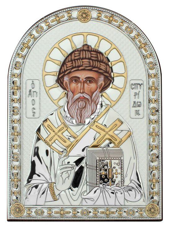 Икона Святой Спиридон (Италия, 13х18 см.)