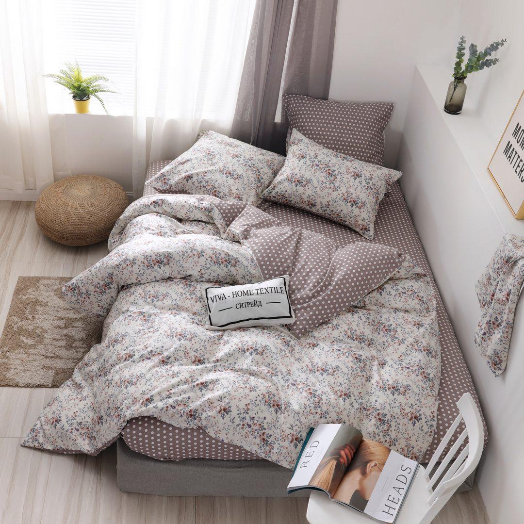 Комплект постельного белья Делюкс Дуэт Семейный  Сатин L220