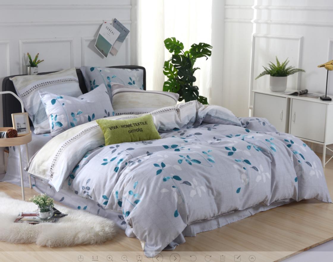 Комплект постельного белья Делюкс 1.5 спальный Сатин L153