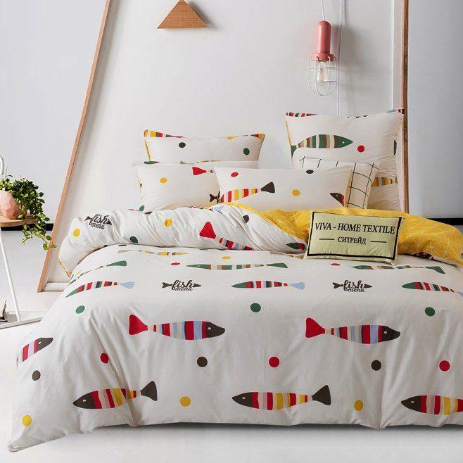 Комплект постельного белья Делюкс 2 спальный Сатин на резинке LR159