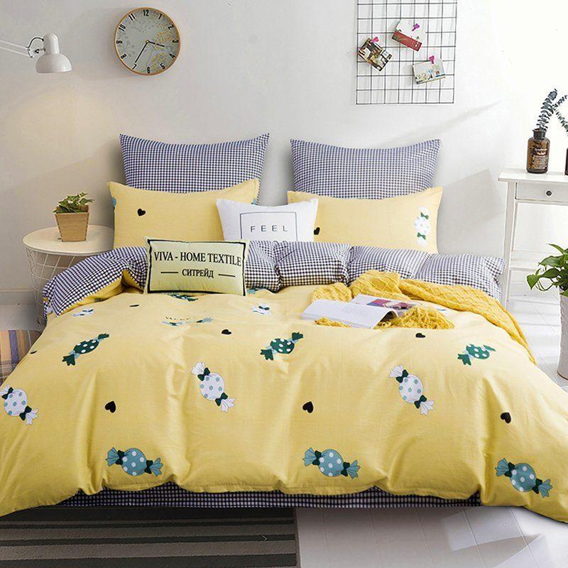 Комплект постельного белья Делюкс 2 спальный Сатин L168