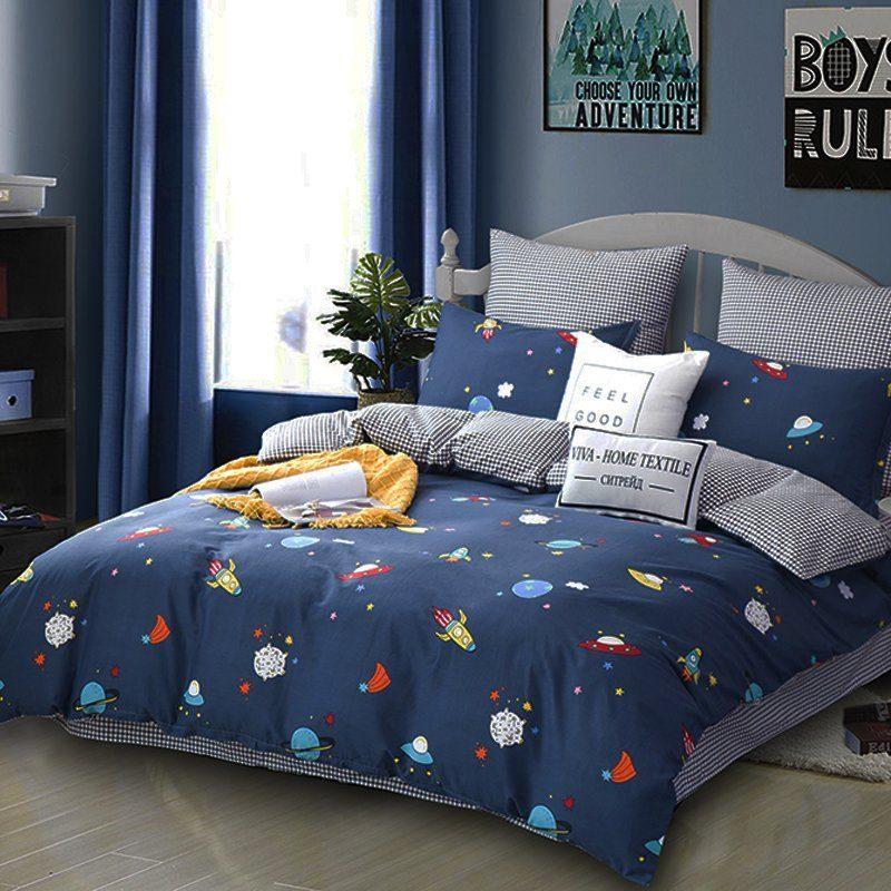 Комплект постельного белья Делюкс 2 спальный Сатин L173