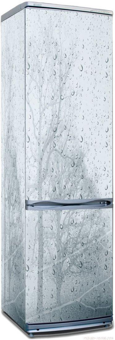 наклейки на холодильник - ветер и дождь