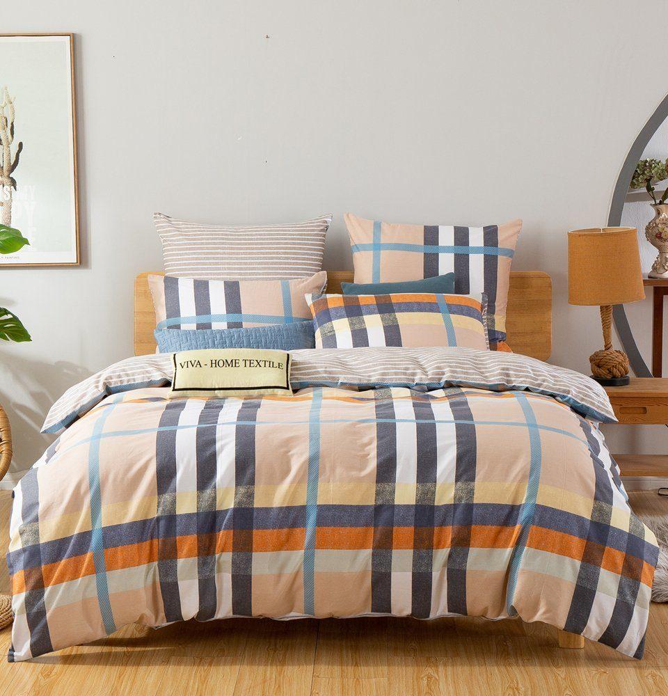Комплект постельного белья Делюкс 2 спальный Сатин на резинке LR192