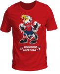 """Футболка детская """"Washington Capitals Kids Mascot"""" печать, красная"""