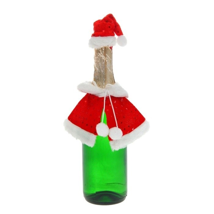 Новогодний наряд для бутылки