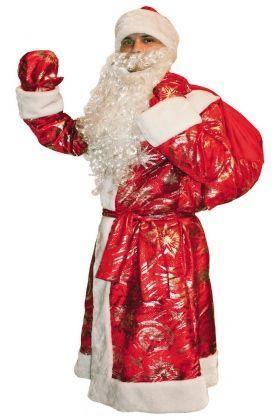 Костюм Деда Мороза с узорами