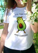 Принт на футболке AVO-CARDIO сделан из бархатного европейского материала, не трескается и не состирывается со временем.