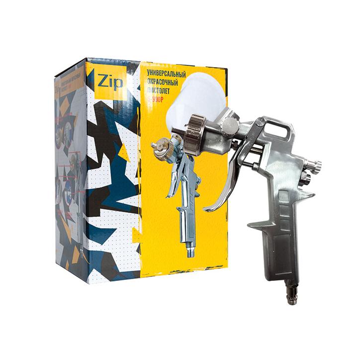 ZIP Окрасочный пистолет S990P с верхним пластиковым бачком, диаметр сопла 1,3мм.