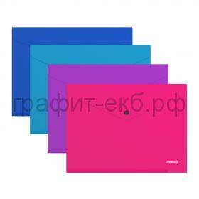 Конверт А4 на кнопке ErichKrause Diagonal Vivid полупрозрачный 50316