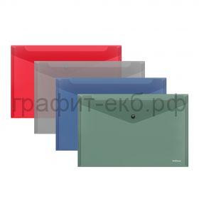 Конверт А4 на кнопке ErichKrause Glossy Classic полупрозрачный 50289