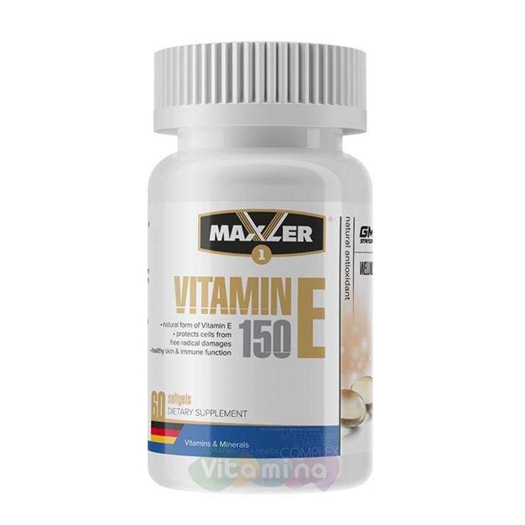 Maxler Витамин Е Vitamin E, 60 капсул