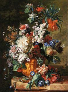 Голландский натюрморт с цветами ( Репродукция Ян Ван Хёйсум )