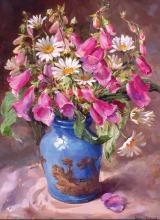 Цветочный натюрморт (Репродукция Anne Cotterill )
