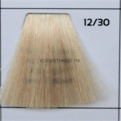 Крем краска для волос 12/30 Супер-Блонд интенсивно-золотистый  Galacticos Professional Metropolis Color