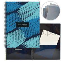 Папка А4 8 конвертов на спирали Феникс+ Голубые узоры 49689