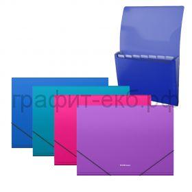 Папка А4 6 отделений на резинке ErichKrause Diagonal Vivid 50418