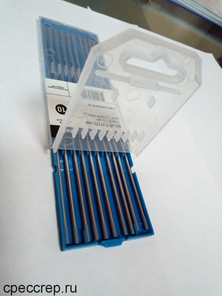 Электроды вольфрамовые WC-20 d=1,0 L=175мм, серый