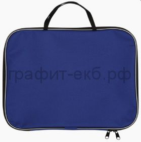 Портфель А3 Lamark ткань 1 отделение на молнии синий Lamark020