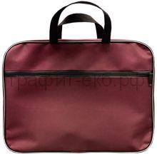 Портфель А4 Lamark ткань 1 отделение на молнии карман снаружи бордовый Lamark019