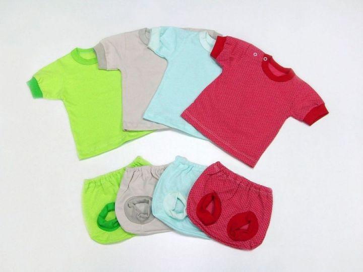 Комплект: футболка, трусы под памперс C-KM068(2)-JT (жатка)