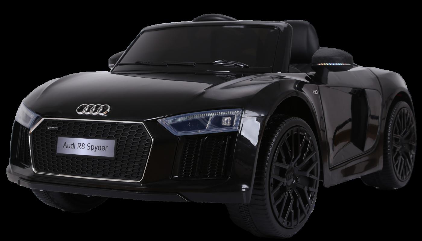 Детский электромобиль (2020) AUDI R8 JJ2198 (12V, колесо EVA, экокожа) Чёрный