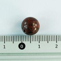 Бусина из красного обсидиана шар 10 мм