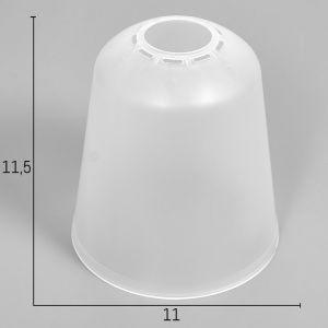 """Плафон универсальный """"Цилиндр""""  Е14/Е27 прозрачный 11хх11х12см   4931342"""