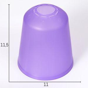 """Плафон универсальный """"Цилиндр""""  Е14/Е27 фиолетовый 11хх11х12см   4931333"""