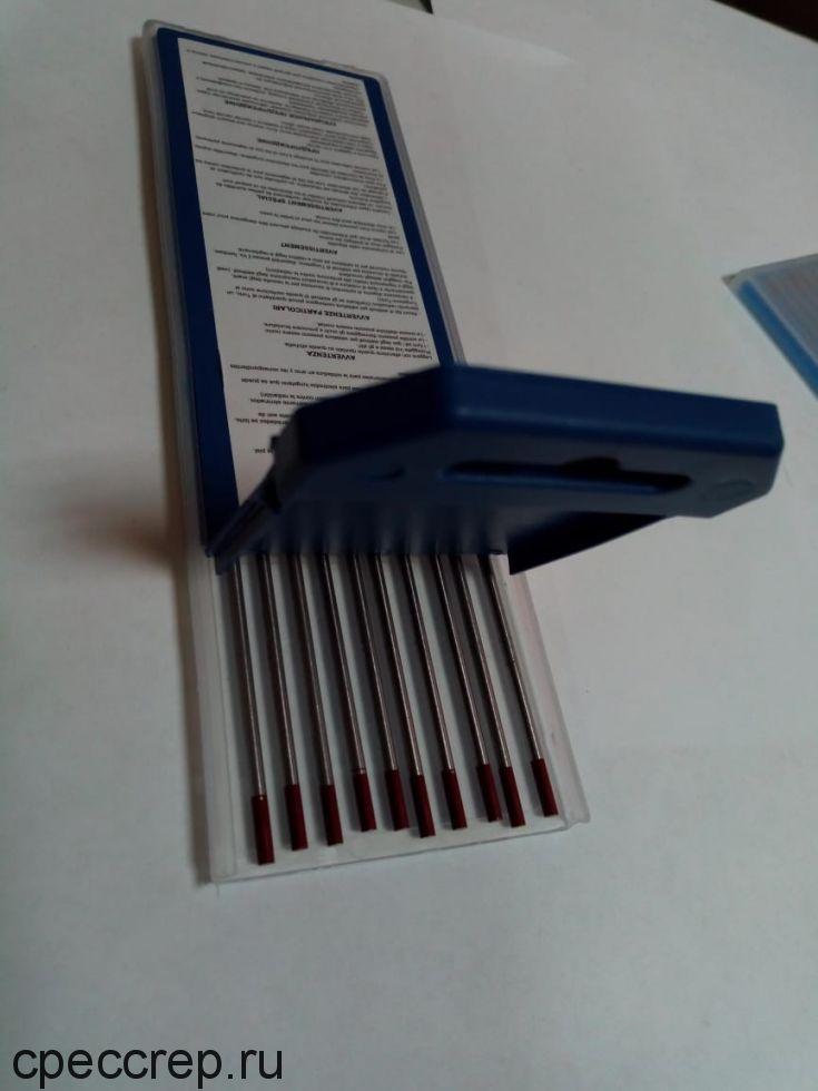 Электроды вольфрамовые WТ-20 d=4,0 L=175мм, красный