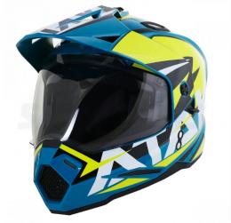 Шлем (мотард) Ataki JK802 Rampage голубой