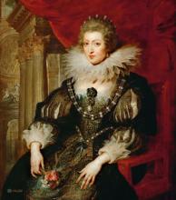 Анна Австрийская, Королева Франции (Репродукция  Питер Пауль Рубенс 1625)