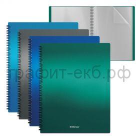 Папка 20 конвертов ErichKrause Matt Ice Metallic на спирали 49961