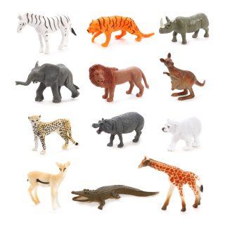 Набор диких животых Jungle animal, 8см, 12шт.