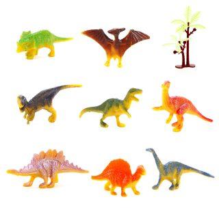 Набор фигурок Динозавры, 8 шт, аксессуары, пакет